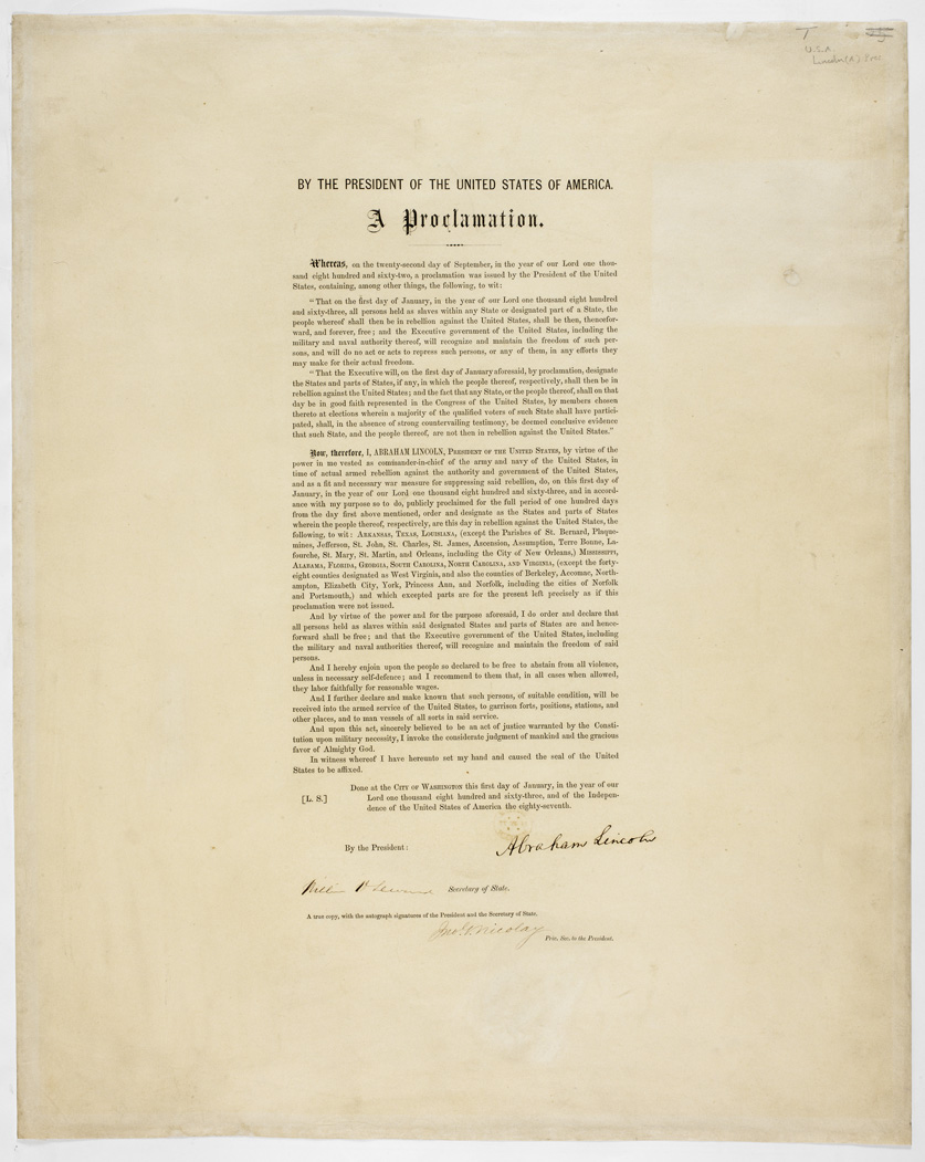 The Emacipation Proclamation